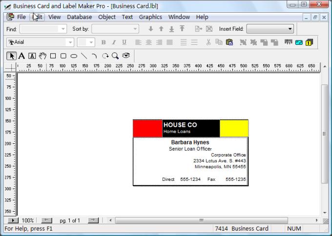 Visitenkarten und Labelersteller Pro