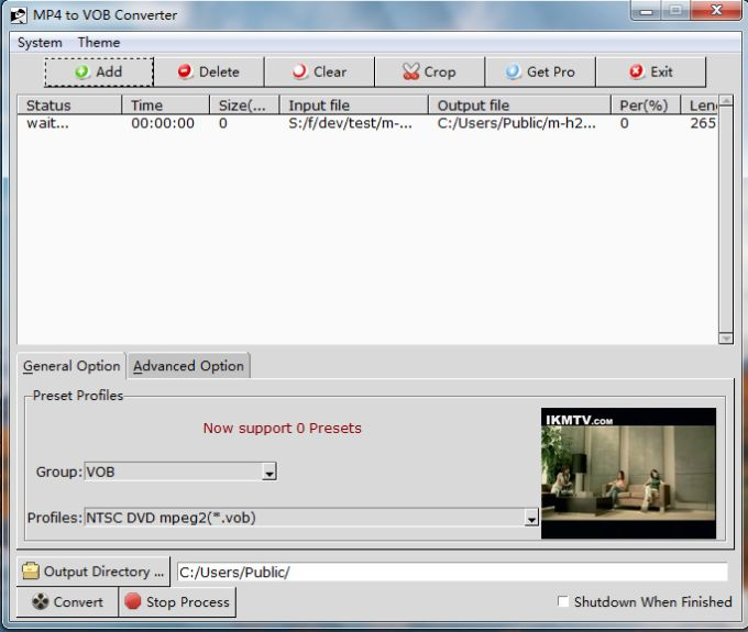 MP4 to VOB Converter