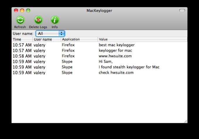 Keylogger for Mac OS X