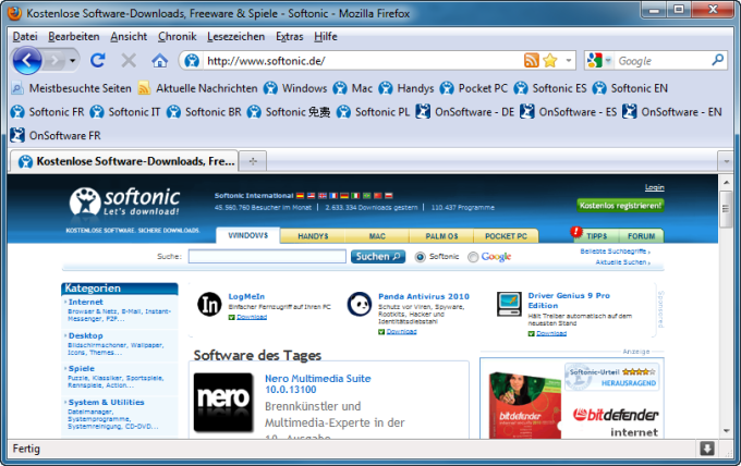 Multirow Bookmarks Toolbar