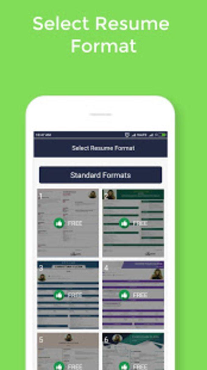 resume maker builder free cv maker templates for android download