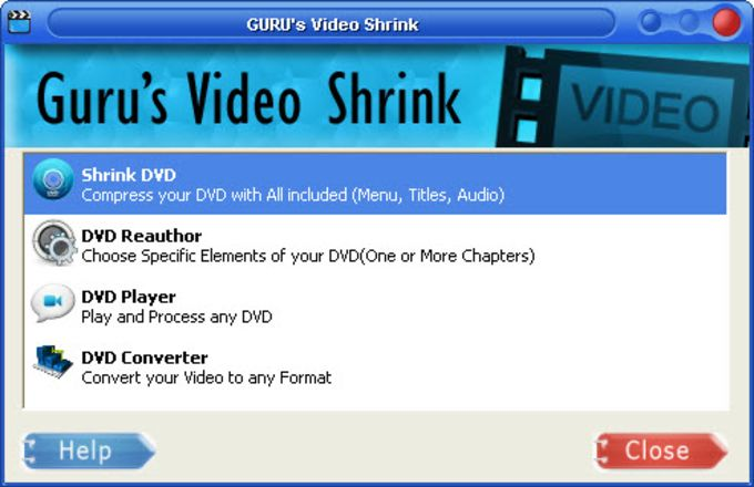 Guru's Video Shrink