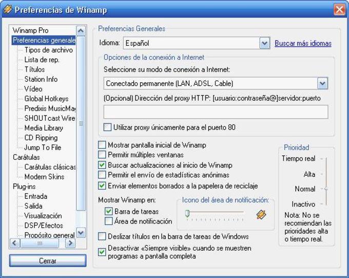 Spanish Language Pack para Winamp
