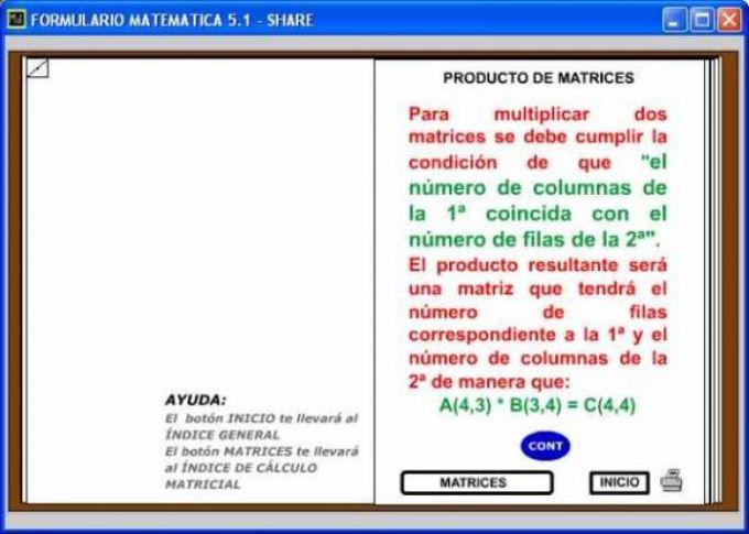 Formulario Matemática