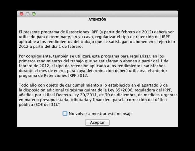 Retenciones IRPF 2012