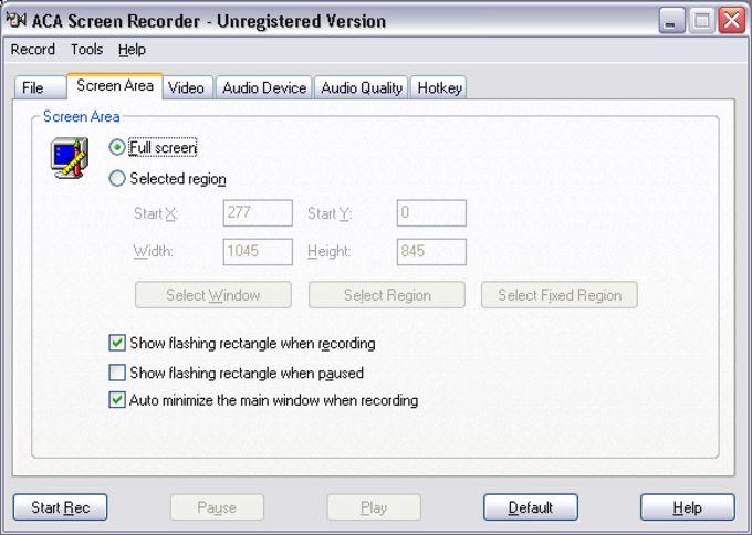 ACA Screen Recorder
