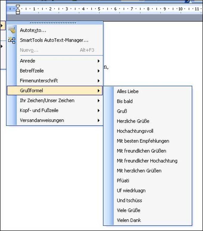 AutoText Manager für Word