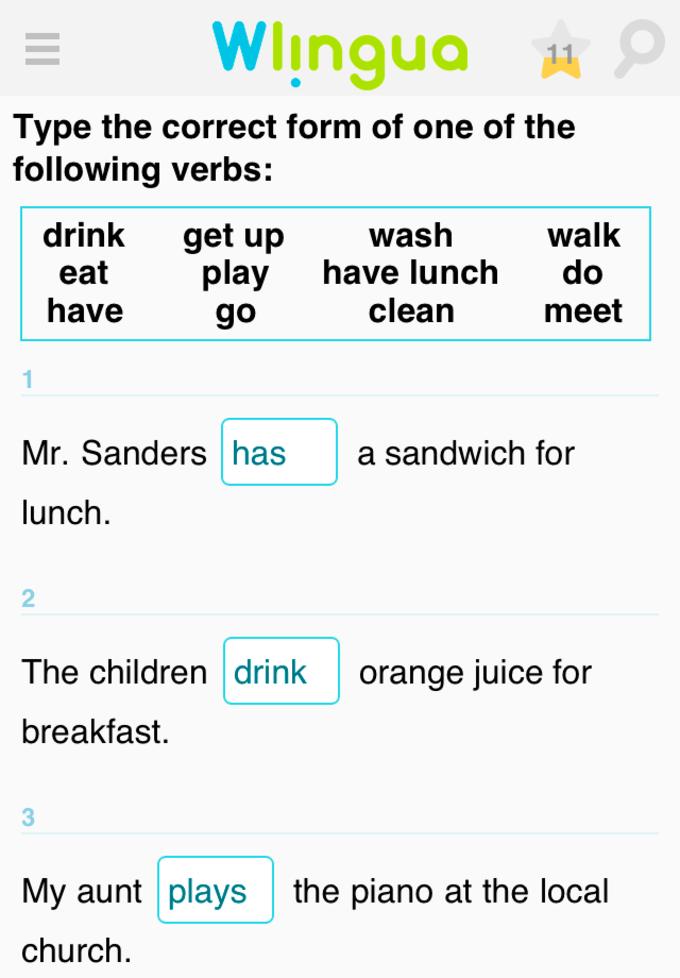 Aprende ingles con Wlingua