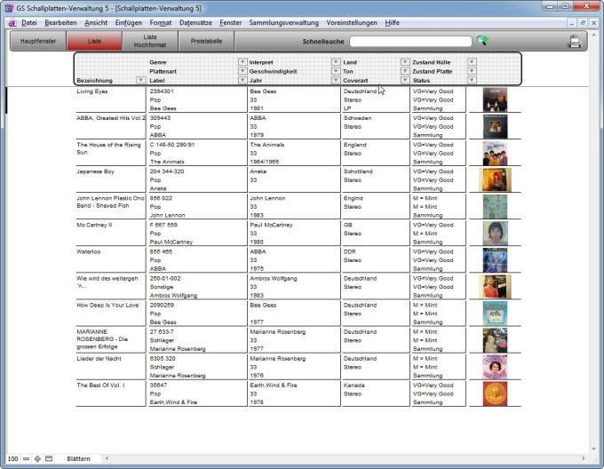 GS Schallplatten-Verwaltung