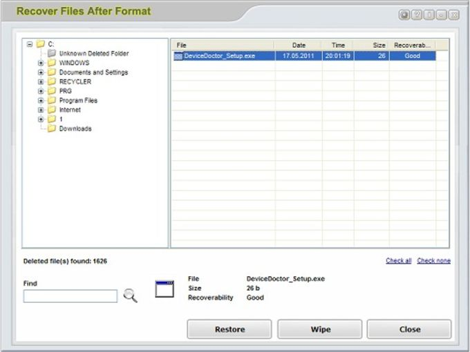 Recover Files After Format