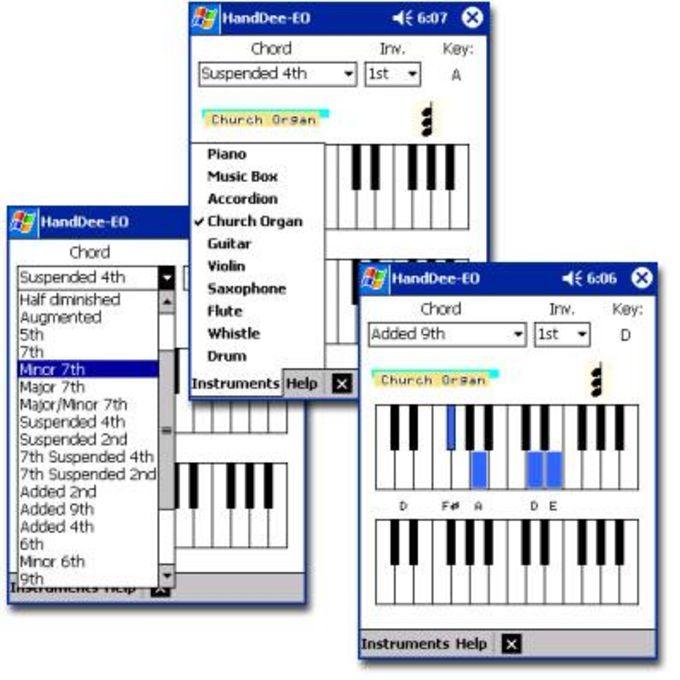 HandDee Electronic Organ & Piano Chords