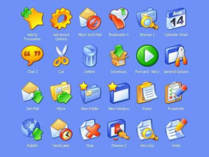 iCandy Junior Toolbar Icons