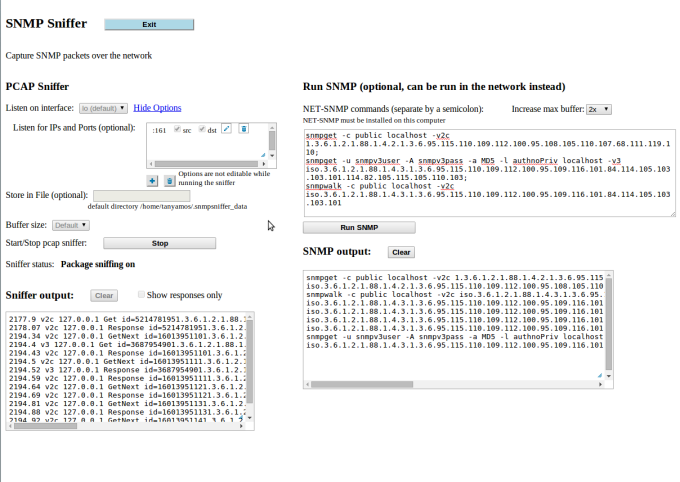 SNMPSniffer for Linux