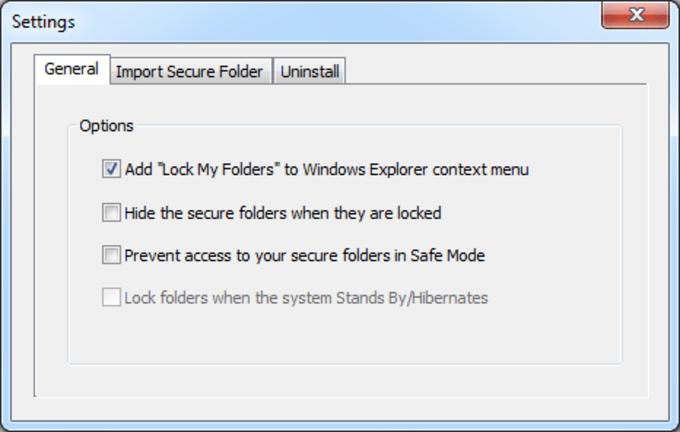 Lock My Folders