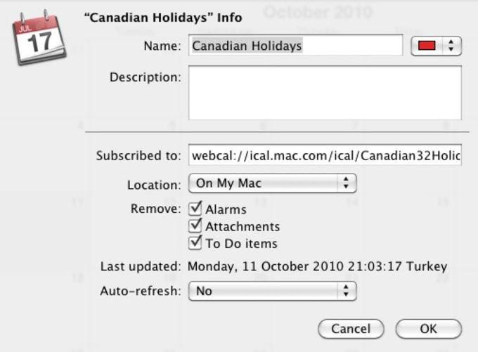Canadian Holiday Calendar