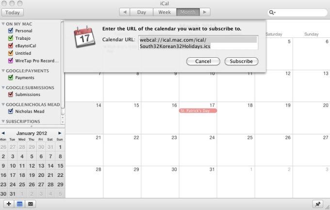 South Korean Holiday Calendar