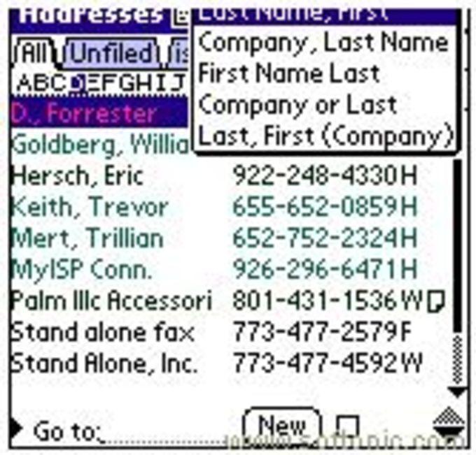 Super Names for Palm OS