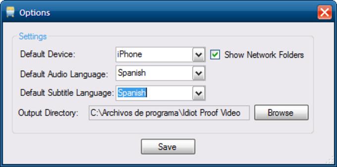 Idiot Proof Video Converter