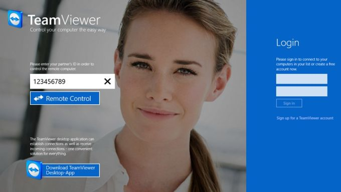 TeamViewer Touch pour Windows 10
