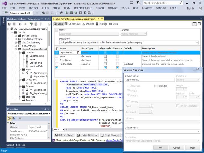 dbForge Fusion for SQL Server