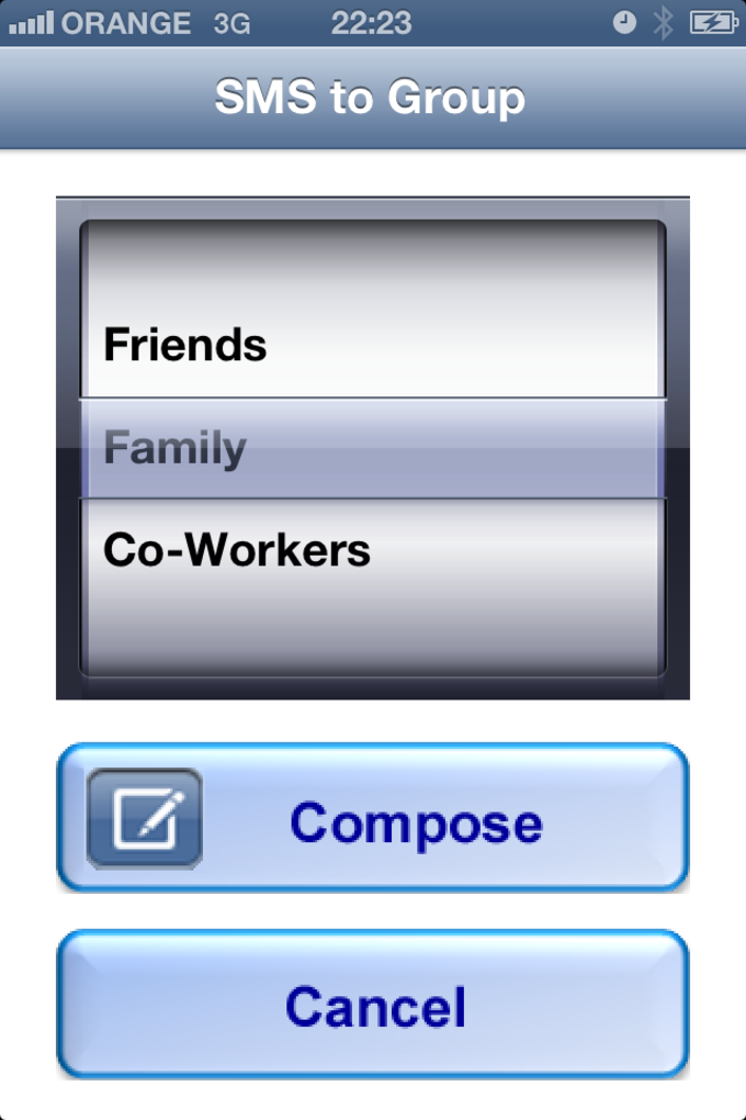 1.2.3 Contacts Manager for iPhone