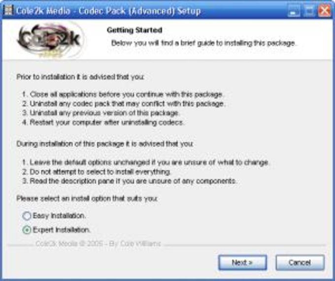 Cole2k Media - Codec Pack