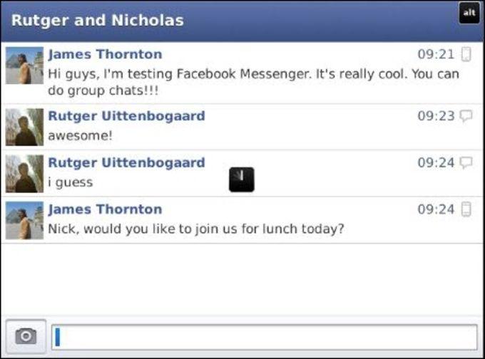 Facebook Messenger für BlackBerry