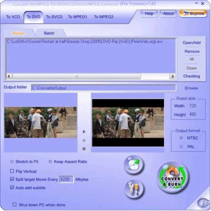 Cucusoft MPEG/MOV/RMVB/DIVX/AVI to DVD/VCD/SVCD Pro