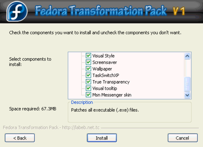 Fedora Transformation Pack