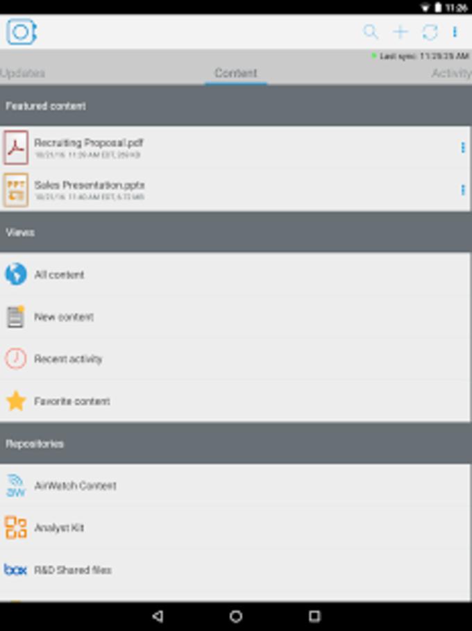 VMware Content Locker