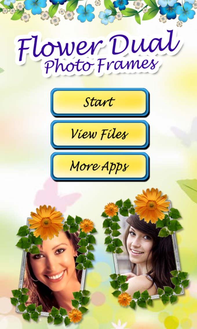 Flower Dual Photo Frames