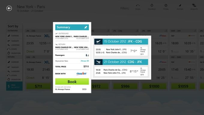 Skyscanner na Windows 10
