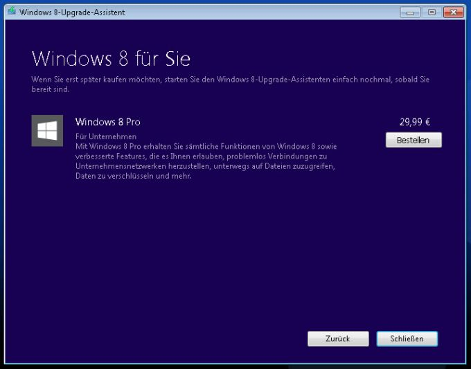 Windows 8 Upgrade-Assistent