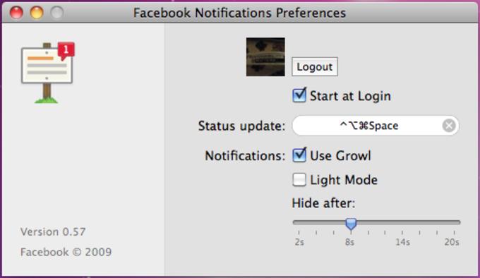 Facebook Desktop Notifications
