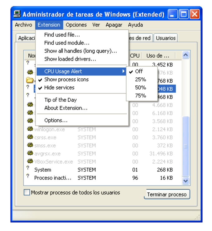 Task Manager Extension