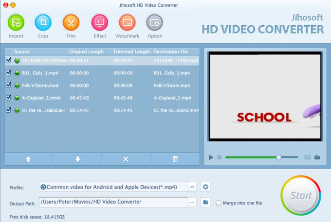 Jihosoft HD Video Converter for Mac