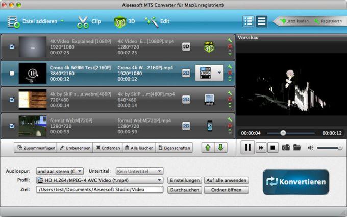 Aiseesoft MTS Converter für Mac