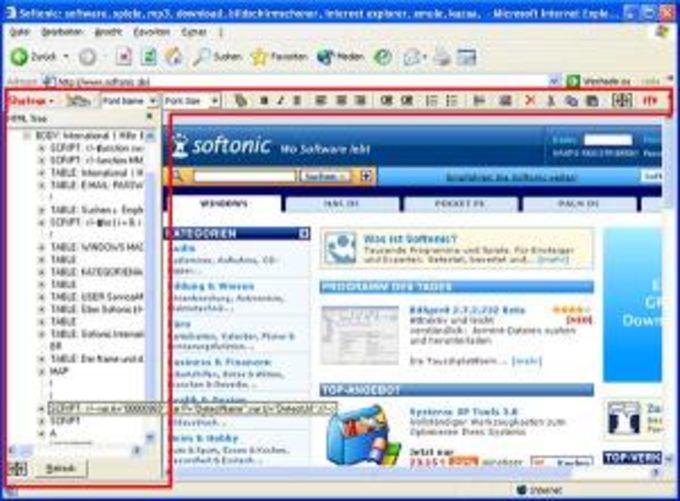 HTML Quick Edit Bar