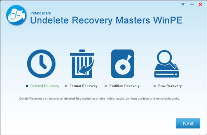 Potatoshare Undelete Recovery WinPE