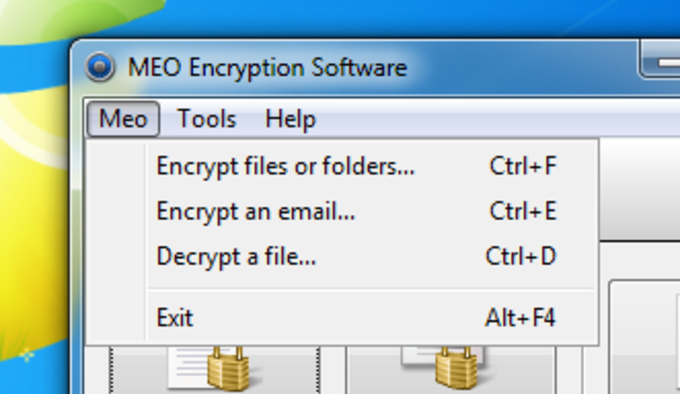 MEO Free Encryption Software