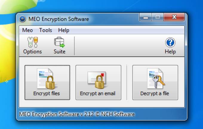 MEO Free Encryption Software
