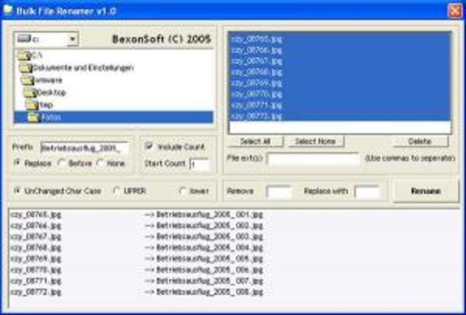 Bexonsoft Bulk File Renamer