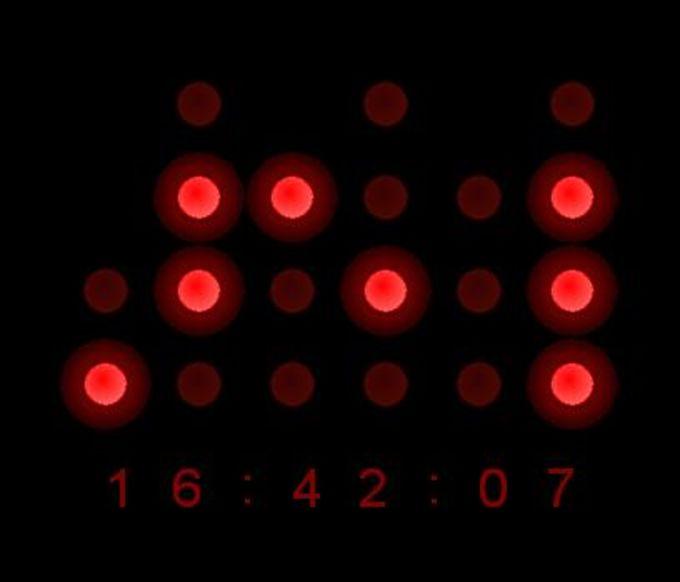 Binary Clock Screensaver