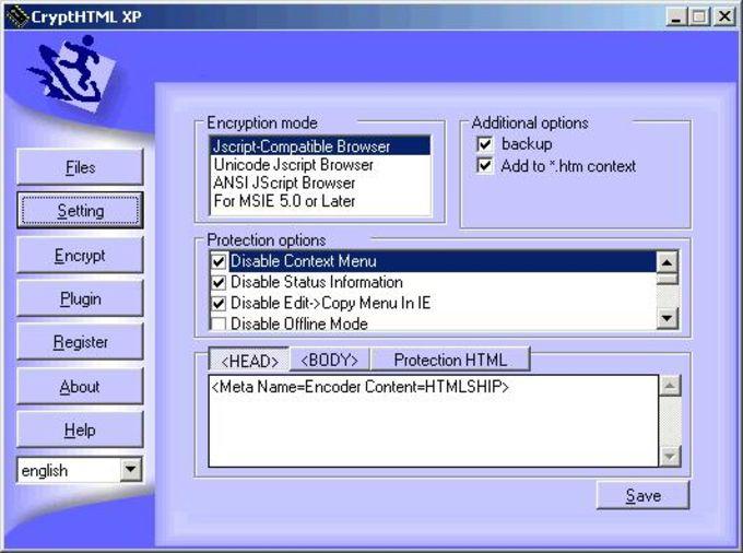 CryptHtml XP