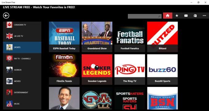 Live TV & Sport