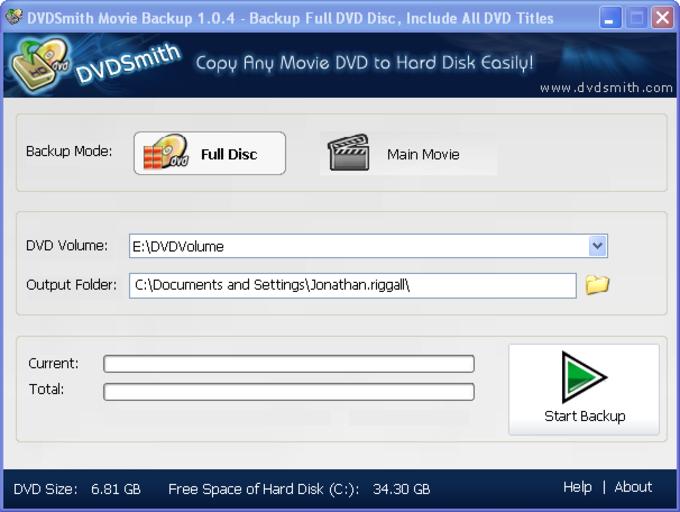 DVDSmith Movie Backup