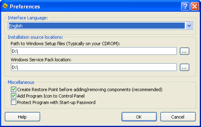 WinComponents XP