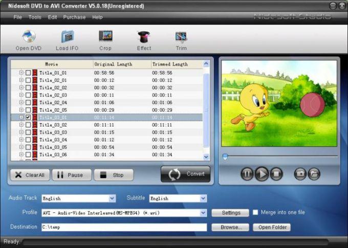 Nidesoft DVD to AVI Converter