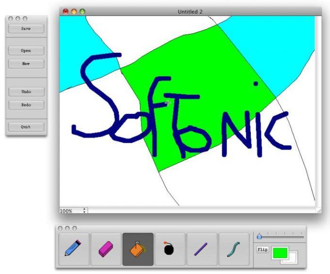 Dessin Softonic avec MacPaint X