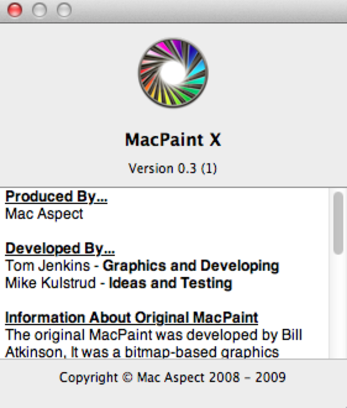 About MacPaint X